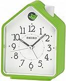 Seiko Unisex Wecker Analog Kunststoff grün Vogelhaus QHP002M