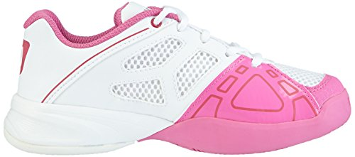 Wilson Rush Pro Junior, Baskets de tennis mixte enfant Multicolore - Mehrfarbig (White / White / Peony)