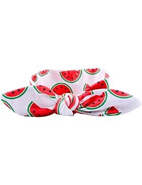 GOPOWD Bebé Niña Diademas Cintas de Pelo 6 piezas Frutas Turbantes con Orejas de Conejo