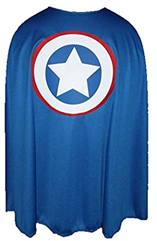 35 inch Captain America Printed Superheroes Cape 3 sizes Kids and Adults Super Hero Capes