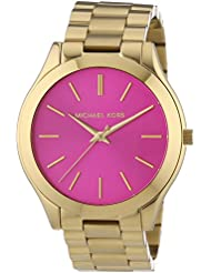 Michael Kors MK3264 - Reloj de cuarzo para mujer, correa de acero inoxidable color dorado