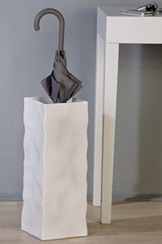 Casa Padrino Designer Schirmständer Weiss - edle Skulptur aus Keramik - Edel & Prunkvoll Schirm Ständer Halter Vase
