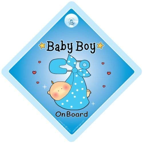 Baby On Board Sign Car, Enkelkind On Board, Baby Auto Zeichen,, Baby Boy on Board, Schild, blau Sling, Baby on Board Auto Sicherheit Zeichen, Baby an Bord, Aufkleber, Bumper Aufkleber, Baby, Baby Auto Schild, Mutterschaft, Baby Dusche, Schwangerschaft, KFZ-Hinweisschild