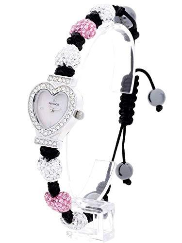Sekonda Damen Armbanduhr Crystalla Rosa Weiß Herz 2002
