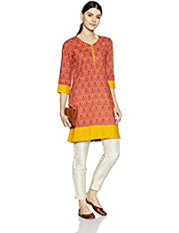 Amazon Brand - Myx Women's Cotton Straight Kurta