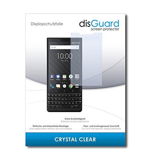 disGuard® Displayschutzfolie [Crystal Clear] kompatibel mit BlackBerry Key2 [2 Stück] Kristallklar, Transparent, Unsichtbar, Extrem Kratzfest, Anti-Fingerabdruck - Panzerglas Folie, Schutzfolie