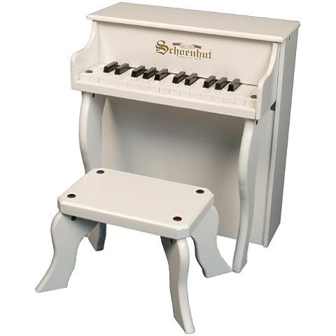 Schoenhut - Piano verticale Elite giocattolo a 25 tasti, colore: bianco