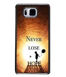 PrintVisa Designer Back Case Cover for Samsung Galaxy Alpha :: Samsung Galaxy Alpha S801 :: Samsung Galaxy Alpha G850F G850T G850M G850Fq G850Y G850A G850W G8508S :: Samsung Galaxy Alfa (Solid Inspirational Quote Never Lose Hope)