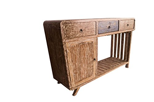 (K14) Antik Teak TV Kommode Kabinett Sideboard Schrank Shabby Vintage Anrichte Retro - 2