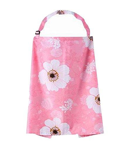 Fleur rose de bébé Nursing Outdoor Cover Poussette Protector avec sangles