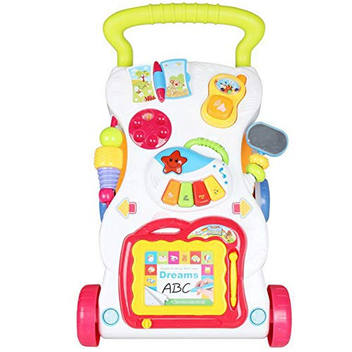 LGLE Correpasillos Bebé Cochecito de Bebé Music Walker Toy Anti-Rollover Learning Walking Infant Trolley...