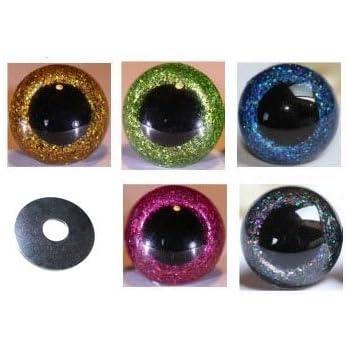 f/ür die Herstellung von Spielzeug und Teddyb/ären blau 3D-Augen mit Schrauben aus Kunststoff 12 mm 4/Paar 12 mm