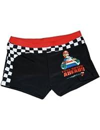 "Wii Nintendo Super Mario Kart Badehose / Swimboxer ""FULL SPEED"" - schwarz"