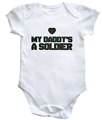 HippoWarehouse My daddy's a soldier baby vest boys girls