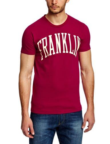Franklin & Marshall Herren T-Shirt TSMC080S13 Rot - Burgunderrot
