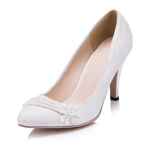Kevin Fashion , Chaussures de mariage à la mode femme - Blanc Cassé - Blanco - blanco, 37 EU EU