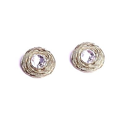 Boucle d'oreille à pince pour femme, cabochon clips bijou accessoire de mode collection bijouterie artisanale By Mode France.