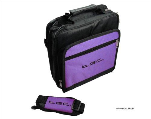 New Electric Purple und schwarz Twin Fach Deluxe Tragetasche für Acer Iconia A500Tablet