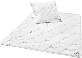 Traumnacht 3-Star Bettenset 4-Jahreszeiten, 1 x teilbare Bettdecke 135 x 200 cm und 1 x Kopfkissen 80 x 80 cm, weiß
