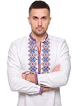 Embroidered shirt mens white. Vyshyvanka. Ukrainian embroidery. Shirts for men