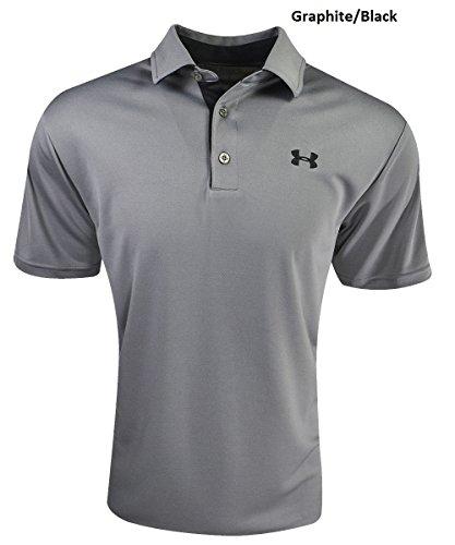 Under Armour Herren UA Rangliste Polo Medium Graphit/Schwarz (Halsband-athletic-shirt)