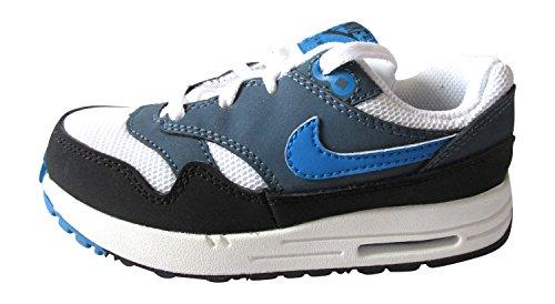 Nike Air Max 1(TD) Scarpe da ginnastica per bambini, 609371 white photo blue new slate 144