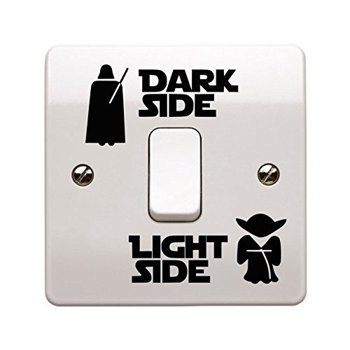 Juststickers star wars dark side/luce laterale interruttore luce adesivo vinilico made in uk