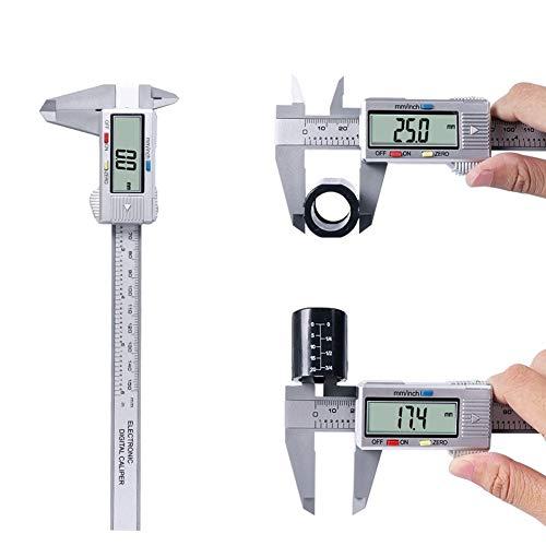 LCCMJCK 150mm Messschieber digitale Elektronische Digitale Messschieber LCD Mikrometer Messwerkzeug 6 Zoll