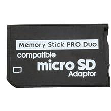 Adaptador de tarjeta de memoria microSDHC/MicroSD a MS Pro Duo, para teléfono móvil, cámara, PSP Sony
