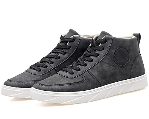 WZG Neue Herbst-Schuhe Männer Schuhe High-Top Sneaker im Trend Student flache Freizeitschuhe Spitze Schuhe Black