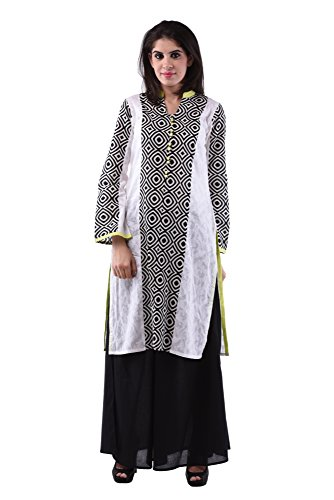 AARR plazo set/cotton Black & White Full sleeves kurta for women