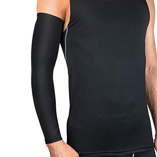 AnazoZ Armbandage Ellbogenschützer Sport Ellbogenschoner Bandage für Handgelenk Handgelenkschoner Geeignet für Volleyball, Tennis, Handball und Golf - Schwarz M (Hockey-schienbeinschoner Für Erwachsene)