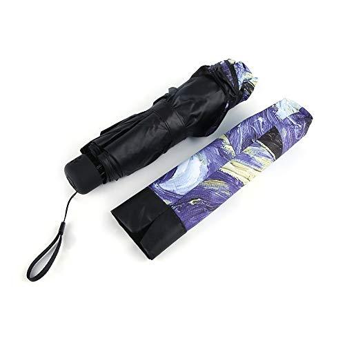 2017 elegante ombrello van gogh pittura a olio ombrello artistico innovativo rivestimento per tutte le stagioni ombrello anti-uv-multicolor notte stellata