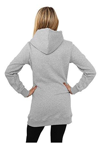 TB391 Ladies Long Sweat Hoody Sweatshirt Kapuze Damen Grey