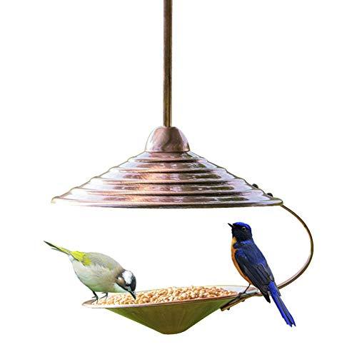 Forniture Per Animali Domestici, Mangiatoia Per Uccelli A Tramoggia in Metallo, Mangiatoia Per Uccelli Selvatici Da Appendere All'aperto Stazione Di Alimentazione Sospesa Con Vassoio