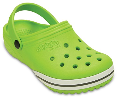 Crocs Children Clogs Kilby Beach Shoes in Green- Slip On Design- Roomy Fit-