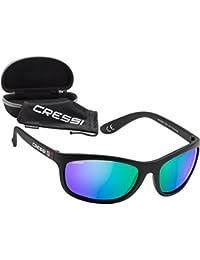 Cressi Rocker - Premium Sonnenbrille Sport Herren, Polarisierte - Linsen mit 100% UV-Schutz, Mit Hardcase