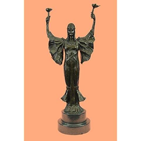 Escultura bronce estatua...Envío gratis...Firmado Leonard antorcha de la victoria Art Nouveau Tall Mármol Mujer(XN-2153-EU)Estatuas estatuilla estatuillas desnuda Oficina y Decoración del hogar Coleccta