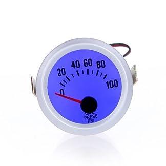 KKmoon 2″ 52MM Medidor Termometro/Tacometro/Press Gauge/Medidor de Presion de Aceite/Voltimetro con Copa para Coche