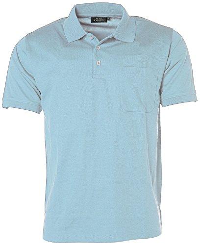 Kitaro Herren Kurzarm Shirt Polokragen Poloshirt Easy Care Blue Bell