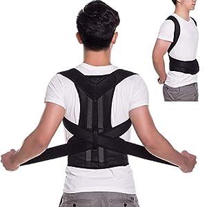 ZSZBACE Haltungkorrektor für Frauen & Männer – Rückenstütze & Schulterstütze Trainer für die Schmerzlinderung & Verbesserung von schweren Rücken- und Schulterschmerzen – Verstellbarer Rückenbandage