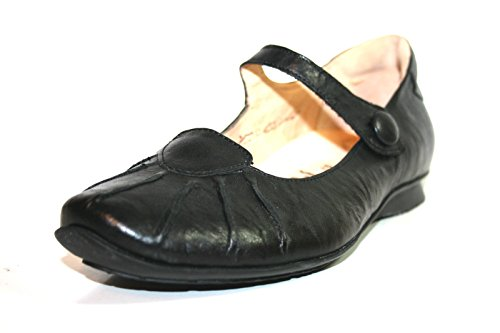 Think CHILLI 86101 Damen Geschlossene Ballerinas Schwarz (schwarz 00)