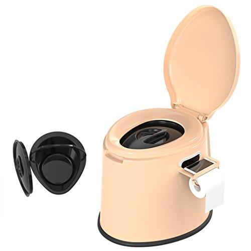LI JING SHOP - Chaise de toilette portative Peut se déplacer pour les enfants et les femmes enceintes à l'intérieur du canon X1 Environmental PP résine 41X50X39cm Couleur: Kaki ( Couleur : Non-slip rubber ring )