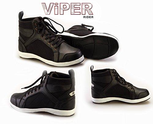 VIPER BOLT C20 Scarpe Moto Scooter Scarpe Formatori Urbani Sneaker Sportivi Lacci Stivali Trainer (EU 40 / 6 UK)