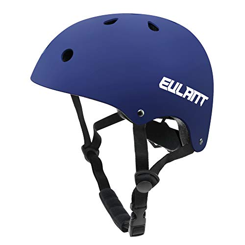 Sborter Casque pour Draisienne/Vélo Enfant, Protections Casque de Sécurité pour Skateboard Cyclisme BMX Roller Snowboard Ski, Respirant & Antichoc, Bleu