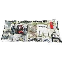 Körnerkissen Wärmekissen Dinkelkissen London 100% Baumwolle 50x20 mit Schutzengel Schlüsselanhänger