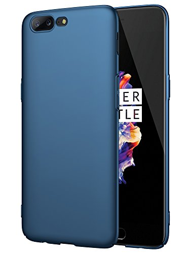 "EIISSION OnePlus 5 (5.5"") Funda,Ultra ligero Suave mate sedoso pintura PC Funda protectora de teléfono (azul oscuro)"