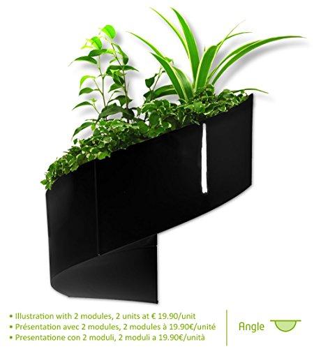 Modul'green - vaso per piante a muro design - interno / esterno - nero - 1 modulo