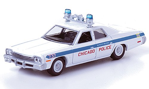 Dodge Monaco, Polizei Chicago, aus dem Film Blues Brothers, 1975, Modellauto, Fertigmodell, Greenlight 1:64 (1 64 Polizei-autos)