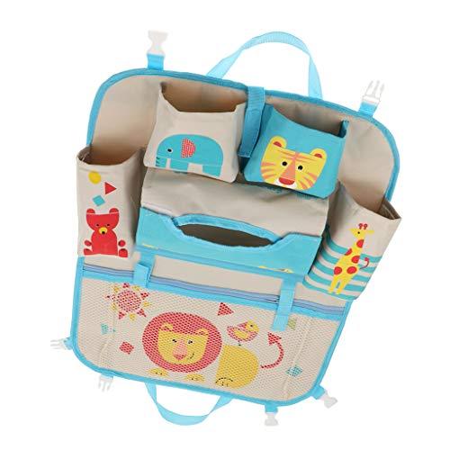 Autositz Baby Kostüm Im - Fenteer Auto Rückenlehnenschutz,Auto Rücksitz-Organizer für Kinder - Löwe